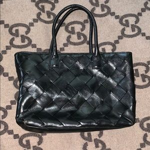 Wilson Leather Woven Tote Bag
